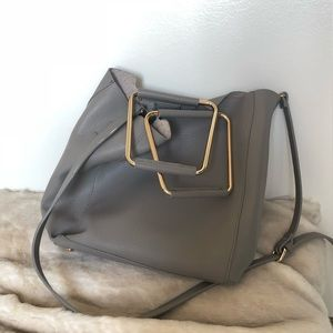 Zara Gray Golden Handle Crossbody bag